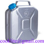 10L Jerry Can Gas Fuel Oil Aluminum Tank Military Style Water Carrier Spout