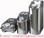 Stainless Steel Jerry Can Diesel Fuel Petrol Water Carrier Oil Storage Drum