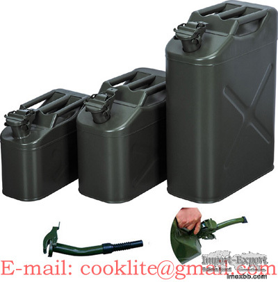 Jerry Can Gas Fuel Steel Tank Military Style Storage Cans 5/10/20L