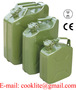 Military Style Metal Green Jerry Can Fuel Gas Steel Tank 5Ltr 10Ltr 20Ltr