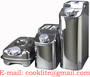 Stainless Steel Jerry Can Utility Jug Portable Fuel Water Carrier Fill Cap
