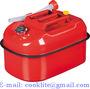 5 Gal 20L Steel Jerry Gerry Can Horizontal Fuel Diesel Petrol Tank Carrier
