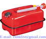 Horizontal Jerry Can Gasoline Fuel Refill Steel Tank Red 10L