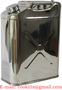 5 Gallon Premium 304 Stainless Steel Jerry Can 20Lt Water/Fuel Storage Tran