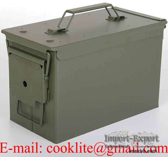 Ammo Box M2A1 50 Cal Metal Ammunition Can Military Ammo Box