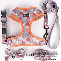 OKEYPETS Pet Safety Strong Adjustable Collar Dog Harness Custom Pattern