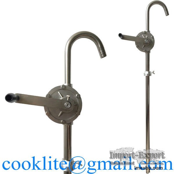 304 Stainless Steel Rotary Chemical Drum Pump with PTFE Seals