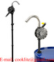 PPS/Ryton Hand Rotary Drum Pump for Pumping Oils Chlorinated Solvents Corro