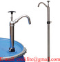 Chrome-plated Steel Hand Drum Barrel Pump For Soap, Wax, Paint Thinner
