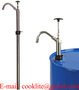 304 Stainless Steel Lift Action Hand Pump for 15-55 Gallon Drums with PTFE