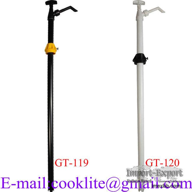 Nylon solvent transfer pump for 205l drums Lift action barrel pump for AdBl
