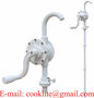 Adblue PVC Rotary Hand Pump Barell Drum Bowser Acid Antifreeze Chemical