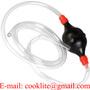 Portable Siphon Liquid Fuel Transfer Hose Rubber Hand Squeeze Pump