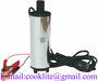 12V Mini Submersible Diesel Fuel Water Transfer Pump - 38mm 20L/Min - Stain