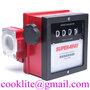 4 Digits Mechanical Gas Petroleum Flow Meter Diesel Fuel Oil Flowmeter