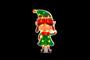 Elf Girl PVC Silhouette Light