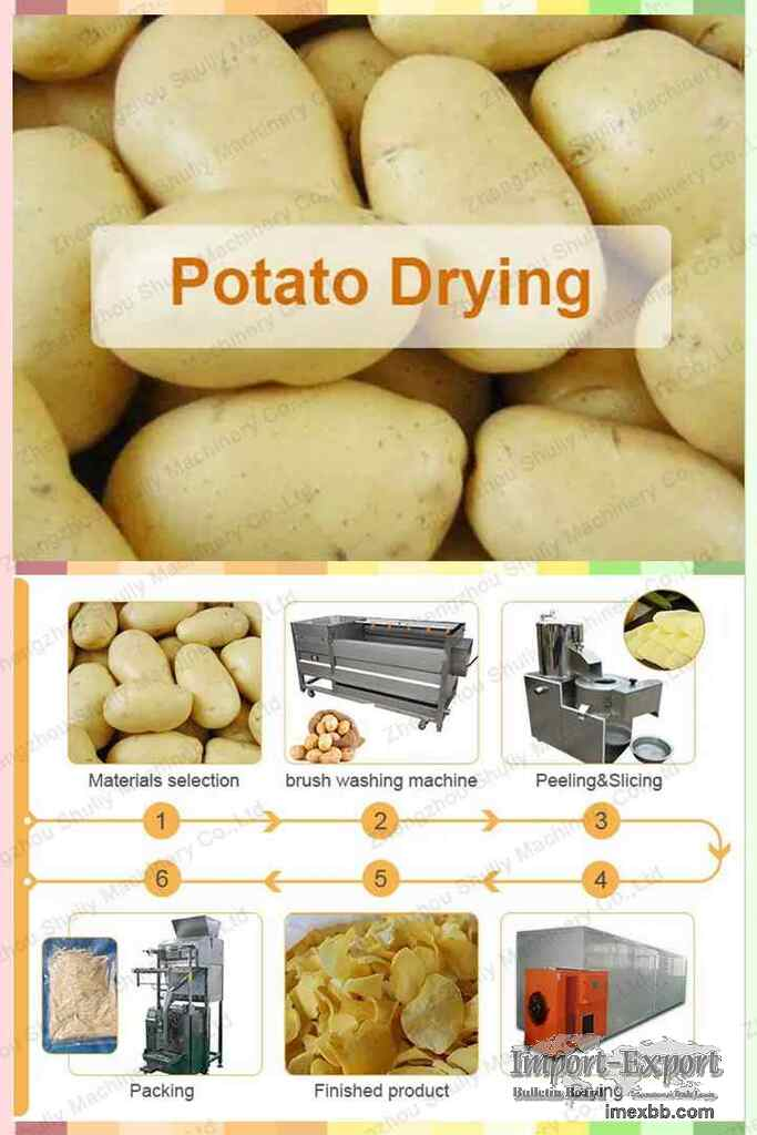 Potato dryer  Sweet potato drying equipment  Dried potato flakes