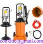 Air Operated High Pressure Grease Bucket Pump Wheeled Pneumatic Lubricator