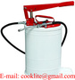 Manual High Pressure Lubrication Oil Grease Pump 20L Oval Bucket Greaser