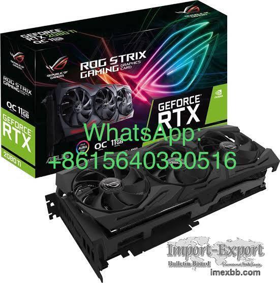 ASUS ROG STRIX GeForce RTX 2080TI Overclocked 11G GDDR6 HDMI DP 1.4 USB Ty