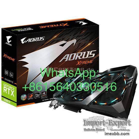 Gigabyte AORUS GeForce RTX 2080 Ti Xtreme 11G Graphics Card, 3X Stacked Win