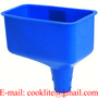 Square Offset Plastic Oil Funnel with Tapered Spout