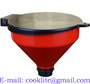 Plastic Waste Oil Drain Drum Funnel with Lid and Dust Filter