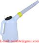 1L Plastic Measuring Jug Motor Oil Filling Can & Detachable Flexible Spout