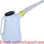 6L Plastic Measuring Jug Oil Dispenser with Protection Lid and Flexible Out