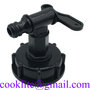 """IBC Tap DN50 2 Inch IBC Tote Tank Adapter Cap with 3/4"""" Tap Outlet Faucet"""