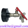 """Lockable IBC Faucet Tote Tank Drain Adapter & 1/2"""" Outlet Tap Valve Fitting"""