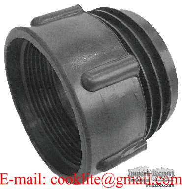 """IBC Tote Tank Adapter/Fitting Connector 63mm Male to 2"""" BSP Female PP Plast"""
