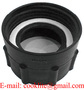 """PP IBC Tote Tank Adapter/Fitting 2"""" BSP Female to 63mm Female Plastic Drum"""