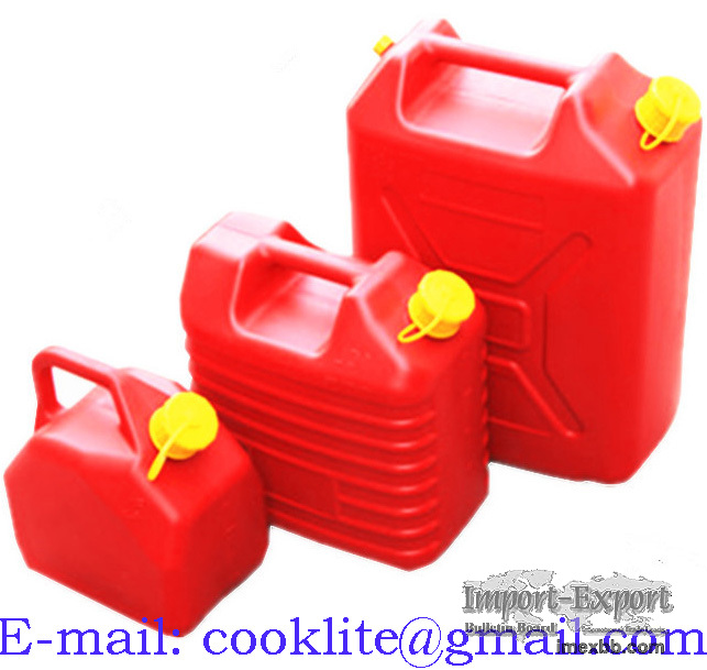 Plastic Fuel Petrol Diesel Can No-Spill Poly Gasoline Can - 5L/10L/20L