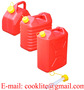 Plastic Fuel Jerry Can with Flexible Spout