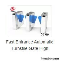 Fast Entrance Automatic Turnstile Gate High Security Infrared Induction