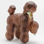 Large Painted Wood Dog Sculpture Harmless Ornaments Crafts