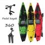 3.38m*0.87m Fishing Pedal Kayak Board LLDPE Rowing 550 Lbs