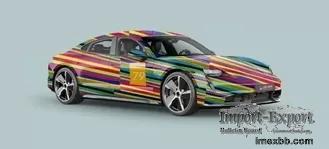 Color Lines Monomeric Protective Car Vinyl Wrap Rolls Digital Print ISO Lis