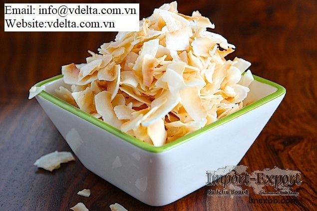 100% Natural high quality dry coconut chips