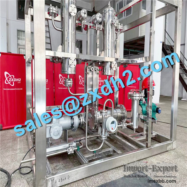 Wide frequency alkaline electrolysis hydrogen generator with capacity 10Nm3