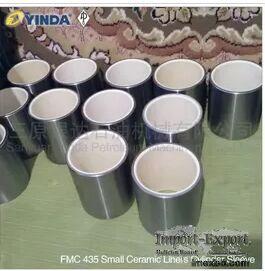 FMC Bean Pump Mud Pump Parts Small Alumina Ceramic Liners FMC 435 FMC 1324