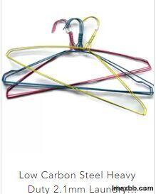 Low Carbon Steel Heavy Duty 2.1mm Laundry Wire Hanger