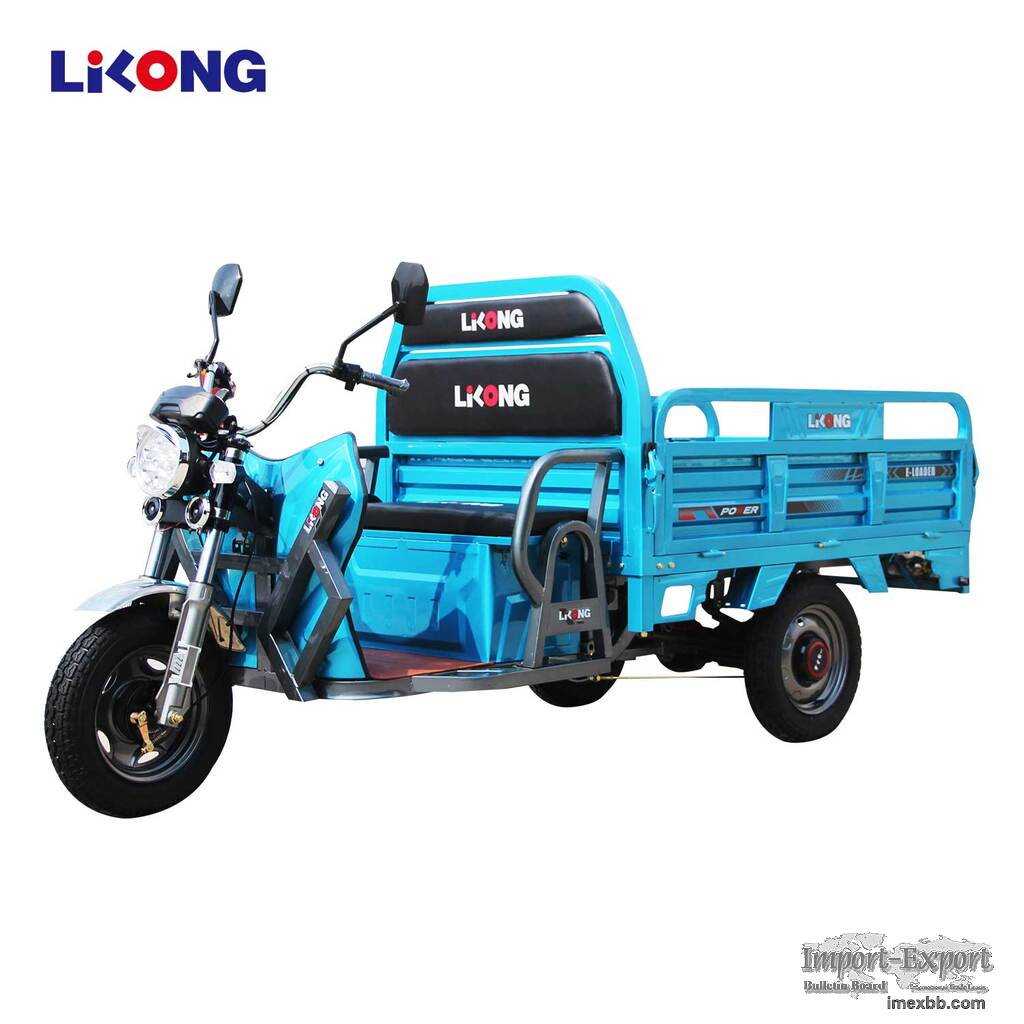 Electric Cargo Tricycle Three Wheels Motorcycle E-Rickshaw E-Loader