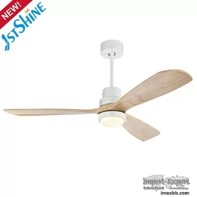 Decorative Modern RoHS Remote LED Ceiling Fan 52 Inch With Light Mulit Colo