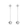 Planet pendant earrings