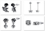 925 sterling silver stud hip-hop trend earrings for men and women