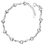 Heart-shaped bracelet 925 sterling silver bracelet Valentine's Day birthday