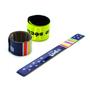 Promotional PVC Reflective Safety Slap Bracelet Wristband