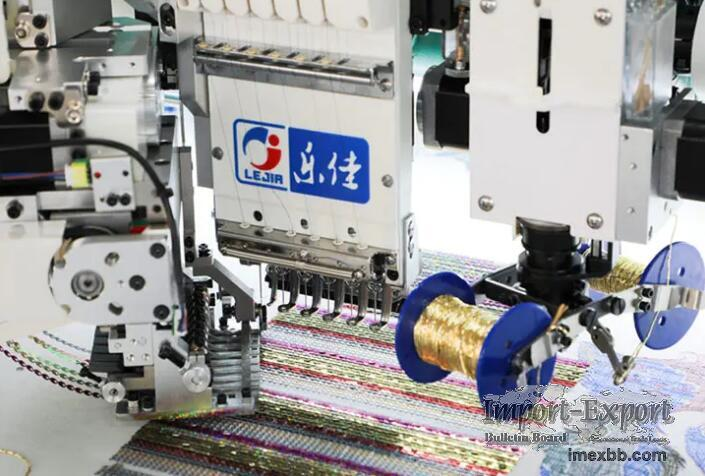 LJ-618+18 Multi-function coiling/taping embroidery machine with sequin devi